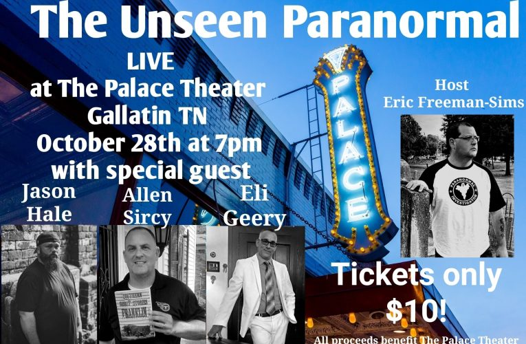 Join Allen At The Palace Theatre For The Unseen Paranormal Live On October 28th!